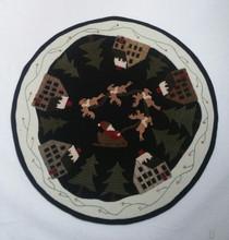 Santa Village table mat designed by Cricket Street Wool
