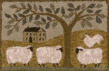 Wooly Estate  punch needle pattern 147 designed by Teresa Kogut
