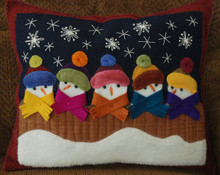 Didn't We Used To Be a Blizzard? pillow pattern designed by Karen Hahn, Horse and Buggy Country