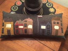 Crickett Village pillow designed by Crickett Street Wool Carolyn Snyder