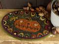 Prize Pumpkin punchneedle pattern designed by Threads That Bind