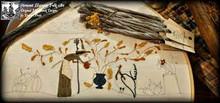 Autumn on Acorn Farm punchneedle pattern designer Vermont Harvest Folk Art