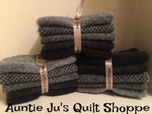 New Mill-Dyed Shades of Gray Bundles in F32's and F16's of 5 different shades of gray in 5 different textures.
