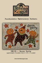 PN Dance Party punchneedle pattern designed by Teresa Kogut