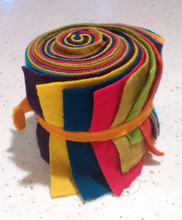 Wooly Rolls bright colors on solid wool