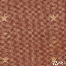 Diamond Textiles Primitive Stars - lt. red with gold stars PS2635