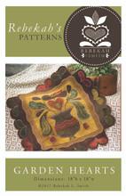 Garden Hearts - Rebekah L. Smith Designs - table topper