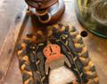 Ye Ladye Pumpkin punchneedle pattern designer Lori Brechlin Notforgotten Farms