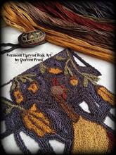 Foraging for Acorns punchneedle pattern designer Vermont Harvest Folk Art