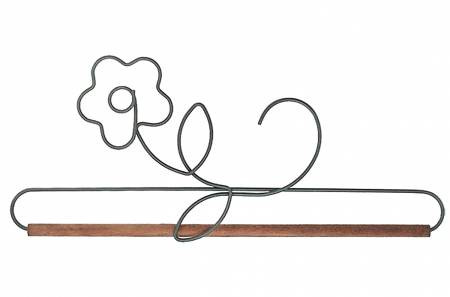 12 Inch Witch/'s Hat Shaped Project Holder or Quilt Hanger Dark Gray Metal with Wooden Dowel From Ackfeld Manufacturing BRAND NEW