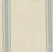 "Natural w/denim stripe 16"" 100% cotton toweling 12553-44"