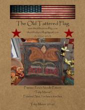 Tulip, Manor, designer, Old, Tattered, Flag, punchneedle, pattern