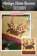 vintage,table,runner,thru,the,year,December,pattern,Buttermilk,Basin