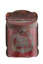North Pole Post tin mailbox