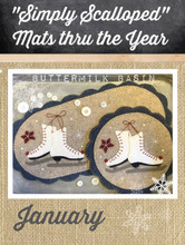 Simply,Scalloped,Mats,Thru,Year,January,Buttermilk,Basin,pattern,Auntie,Jus,Quilt,Shoppe,kit