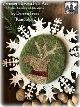 Randolph,Stag,Vermont,Harvest,Folk,Art,punchneedle