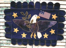 Americana,Eagle,Penny,Rug,wool,appliqué,designer,Country,Cupboard,kit,Auntie,Jus,Quilt,Shoppe