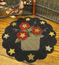 Star,Flower,Basket,tabletopper,pattern,designer,Woolen,Needle,kit,Auntie,Jus,Quilt,Shoppe
