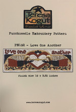 Punchneedle,pattern,Love,One,Another,192,Teresa,Kogut,designer,auntie,jus,quilt,shoppe