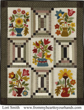 Nantucket,pattern,designer,Lori,Smith,wall,quilt,wool,appliqué,auntie,jus,quilt,shoppe