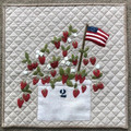 Strawberry,Delight,pattern,JPV,Designs,wool,appliqué,kit,Auntie,Jus,Quilt,Shoppe