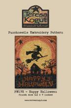 Happy,Halloween,punchneedle,pattern,Teresa,Kogut,designer,Auntie,Jus,Quilt,Shoppe