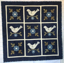 Dove,Rose,Wall,Quilt,pattern,designer,Carried,Away,kit,Auntie,Jus,Quilt,Shoppe