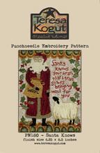 Punch,needle,pattern,TK180,Santa,Knows,Teresa,Kogut,Auntie,Jus,Quilt,Shoppe