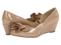 CL by Laundry Taupe Patent Leather Wedge