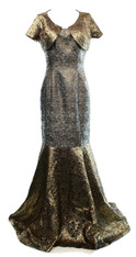 B. Michael Gold/Gray Full Length Gown