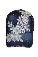 Crystal Bling Denim Washing Cap