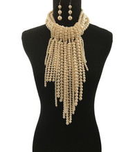 Cream Pearl Layered Necklace Set