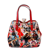 Magazine Print Doctor Hand Bag