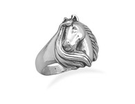 Horse and Mane Ring
