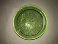 VINTAGE GREEN GLASS PAPERWEIGHT JAMESTOWN VIRGINIA 1608-2000