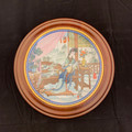 1987 CHINESE IMPERIAL FRAMED JINGDEZHEN PORCELAIN COLLECTOR PLATE