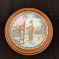 1986 CHINESE IMPERIAL FRAMED JINGDEZHEN PORCELAIN COLLECTOR PLATE
