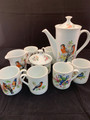VTG RARE MOTTAHEDEH AVIARY PATTERN TEA/COFFEE SET