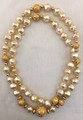 "VINTAGE MARY MCFADDEN 36"" ETRUSCAN NECKLACE"