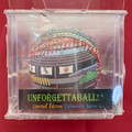 NEW! VINTAGE UNFORGETTABALL! THREE RIVERS STADIUM HAND-DESIGNED BASEBALL