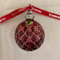 RARE 2013 WATERFORD ANNUAL RUBY BALL ORNAMENT