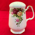 "©1962 RARE ROYAL ALBERT ""OLD COUNTRY ROSES"" LARGE SUGAR SHAKER"