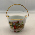 VINTAGE FRENCH LIMOGES AUTHENTIC PORCELAIN BASKET