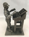 "1974 THE FRANKLIN MINT ""THE PRINTER"" FINE PEWTER FIGURINE"