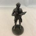 "1974 THE FRANKLIN MINT ""THE SCHOOLMASTER"" FINE PEWTER FIGURINE"