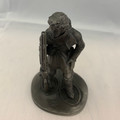 "1975 THE FRANKLIN MINT ""THE TRAPPER"" FINE PEWTER FIGURINE"