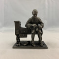 "1975 THE FRANKLIN MINT ""THE SHOEMAKER"" FINE PEWTER FIGURINE"
