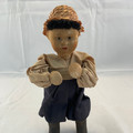 RARE! ANTIQUE UKRANIAN HANDMADE PEASANT BOY DOLL