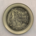 """©1978  CURRIER & IVES """"SUMMER EVENING"""" PEWTER PLATE"""