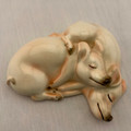 ©1975 GOEBEL (WEST GERMANY) SLEEPING PIGS, TWO SNUGGLED TOGETHER IN ONE FIGURINE